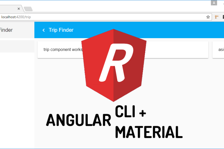 How to create dynamic menu and page title with Angular Material and CLI