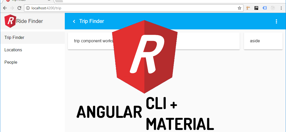 How to create dynamic menu and page title with Angular Material and
